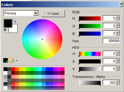 The Paint.NET color picker