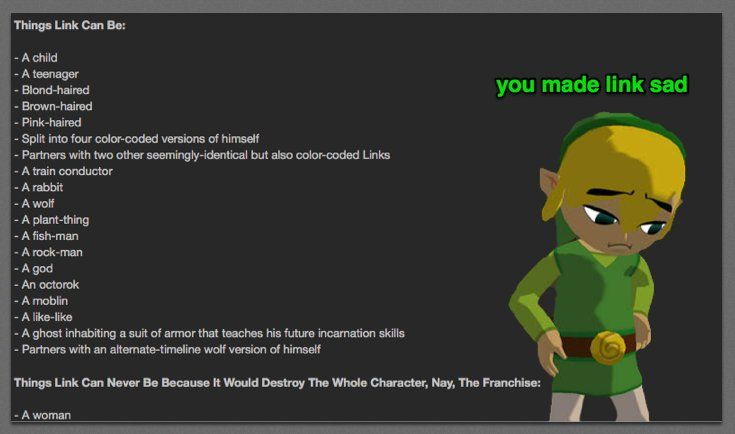 Why Arguing About Link S Gender Is Dumb And Why It S