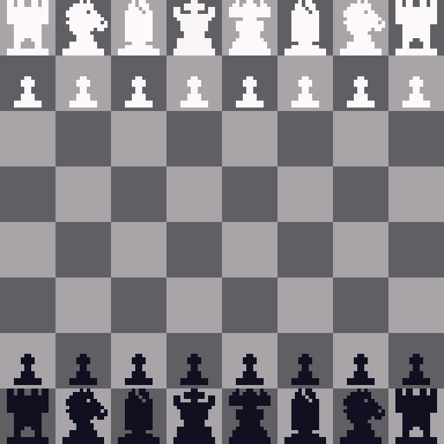 pixel art chess set  communicating function through design